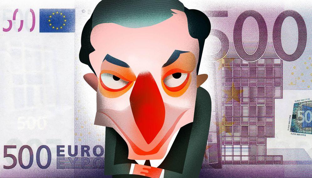 Foto: Mario Draghi. (Ilustración Raúl Arias)