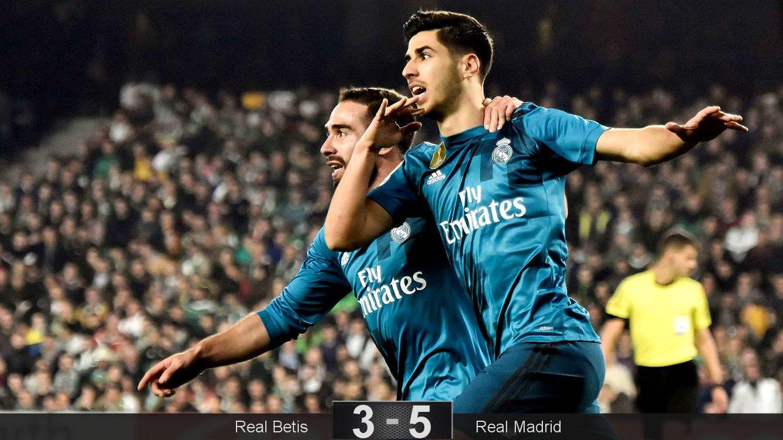 Foto: Asensio realizó dos goles, uno tras una sensacional jugada de Carvajal. (EFE)