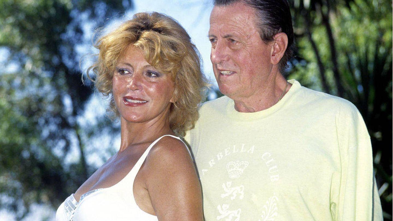 Una espectacular Carmen Cervera con el barón Thyssen, en los años 90 en Marbella. (Gtres)