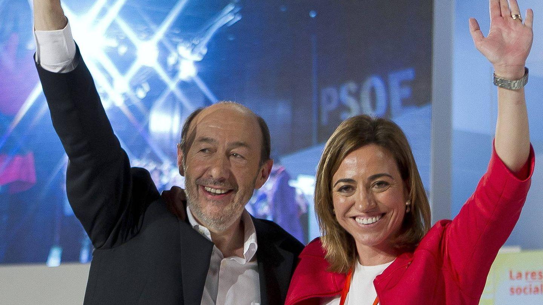 Alfredo Pérez Rubalcaba y Carme Chacón, en una imagen de archivo de 2012 (EFE)