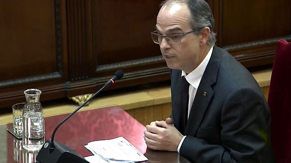 Foto: Jordi Turull durante el juicio del 'procés' en el Tribunal Supremo. (EFE)