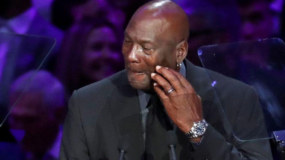 Foto: Michael Jordan, durante el homenaje de Kobe Bryant y su hija Gigi celebrado este lunes en Los Ángeles. (Reuters)