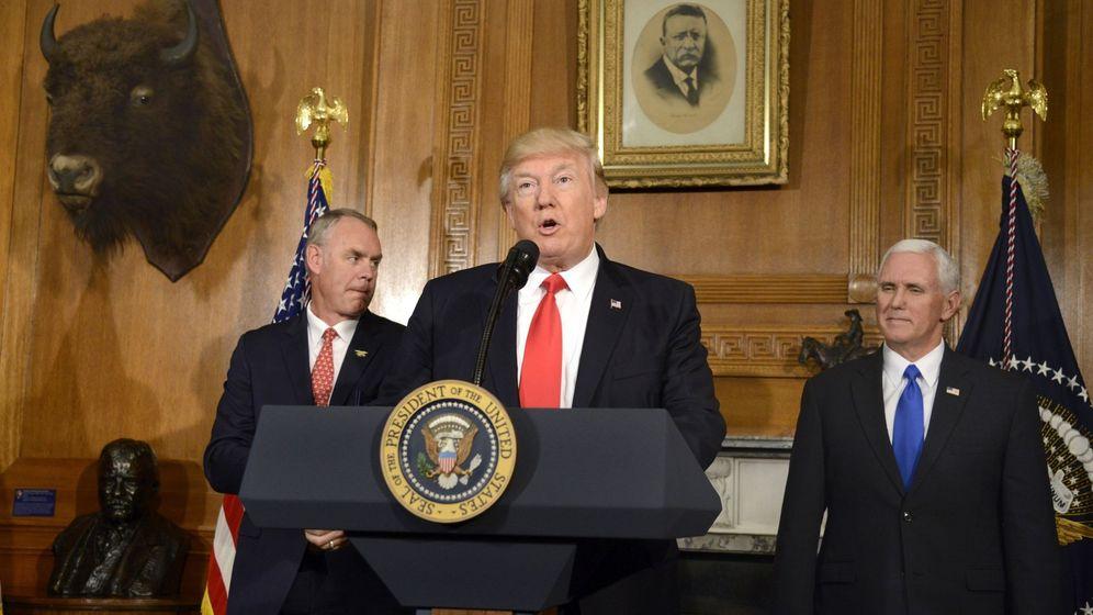 Foto: El presidente Trump pronuncia un discurso en Washington, el 26 de abril de 2017. (EFE)