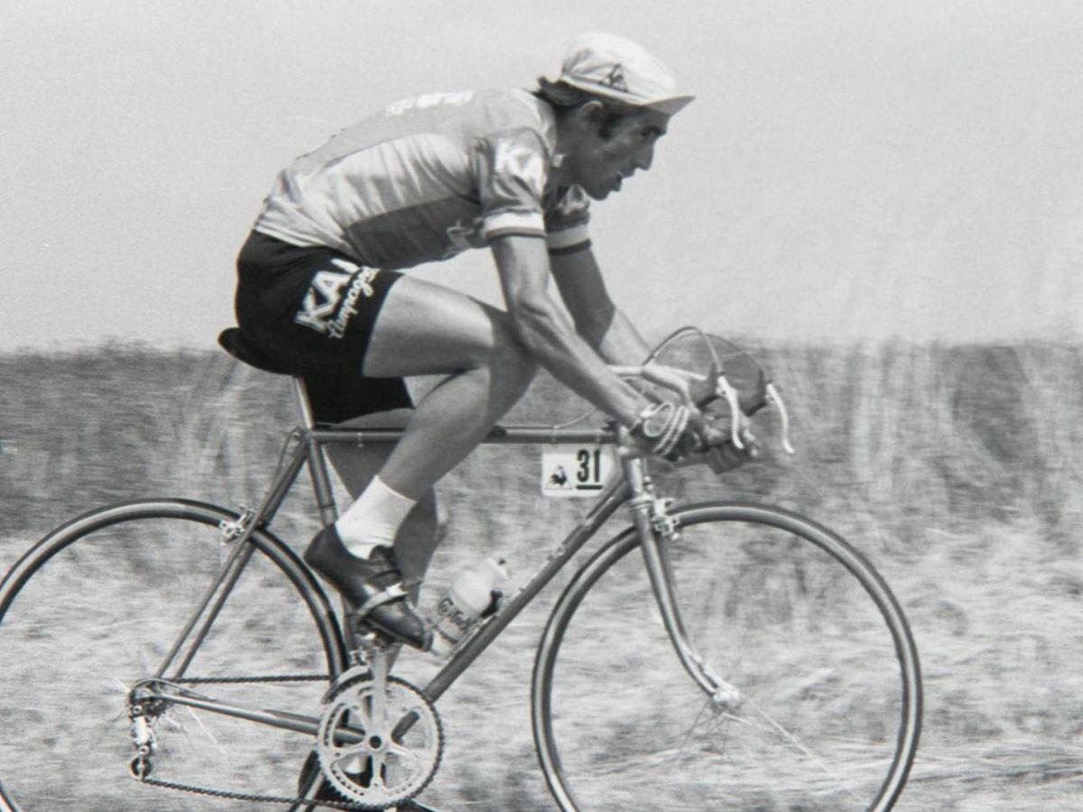 Foto: Imagen del ciclista de Lasarte, Francisco Galdós Gauna
