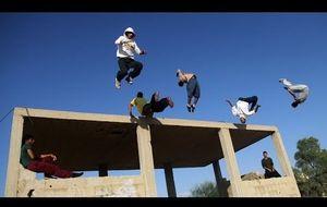Haciendo 'parkour' en la Franja de Gaza