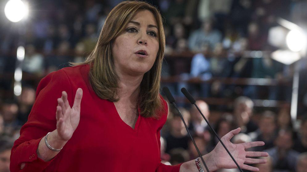 Foto: Susana Díaz, durante un acto con alcaldes socialistas en Madrid. (EFE)
