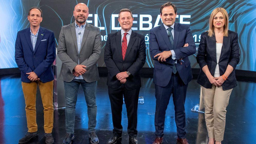 Foto: Debate entre los candidatos de Castilla-La Mancha (Efe)