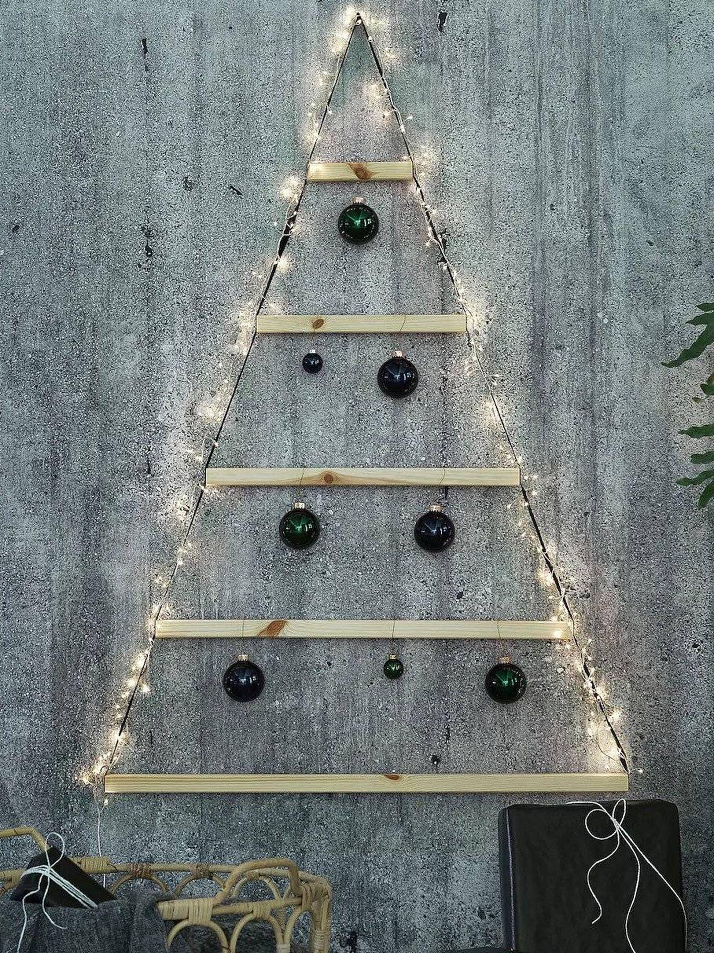 Arbolito de Navidad de Ikea. (Cortesía)