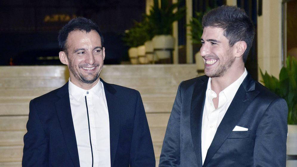 Foto: Alejandro Amenábar y David Blanco en 2015. (Getty)
