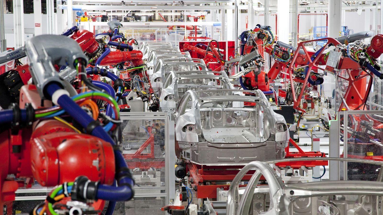 Foto: Una de las fábricas de Tesla Motors (Tesla)