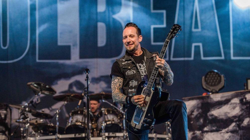 Foto: Michael Poulsen, vocalista, guitarra y cofundador de Volbeat.