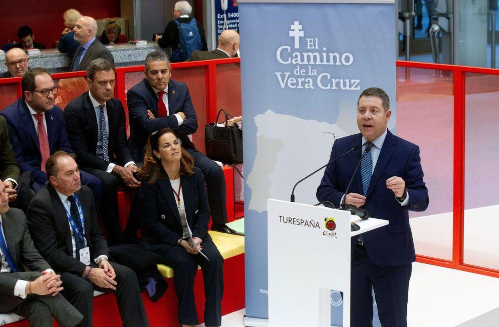 Foto: El presidente de Castilla-La Mancha, Emiliano García-Page, este 23 de enero en la feria Fitur de Madrid. (EFE)