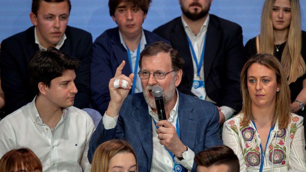 Foto: Mariano Rajoy en la Convención Nacional del PP en Sevilla. (EFE)