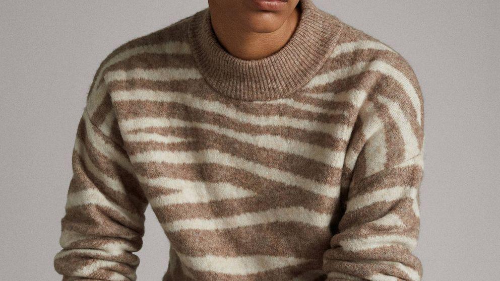 Massimo Dutti tiene el jersey de animal print más elegante de su colección de rebajas