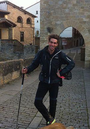 Jon Kortajarena, de peregrino en el Camino de Santiago