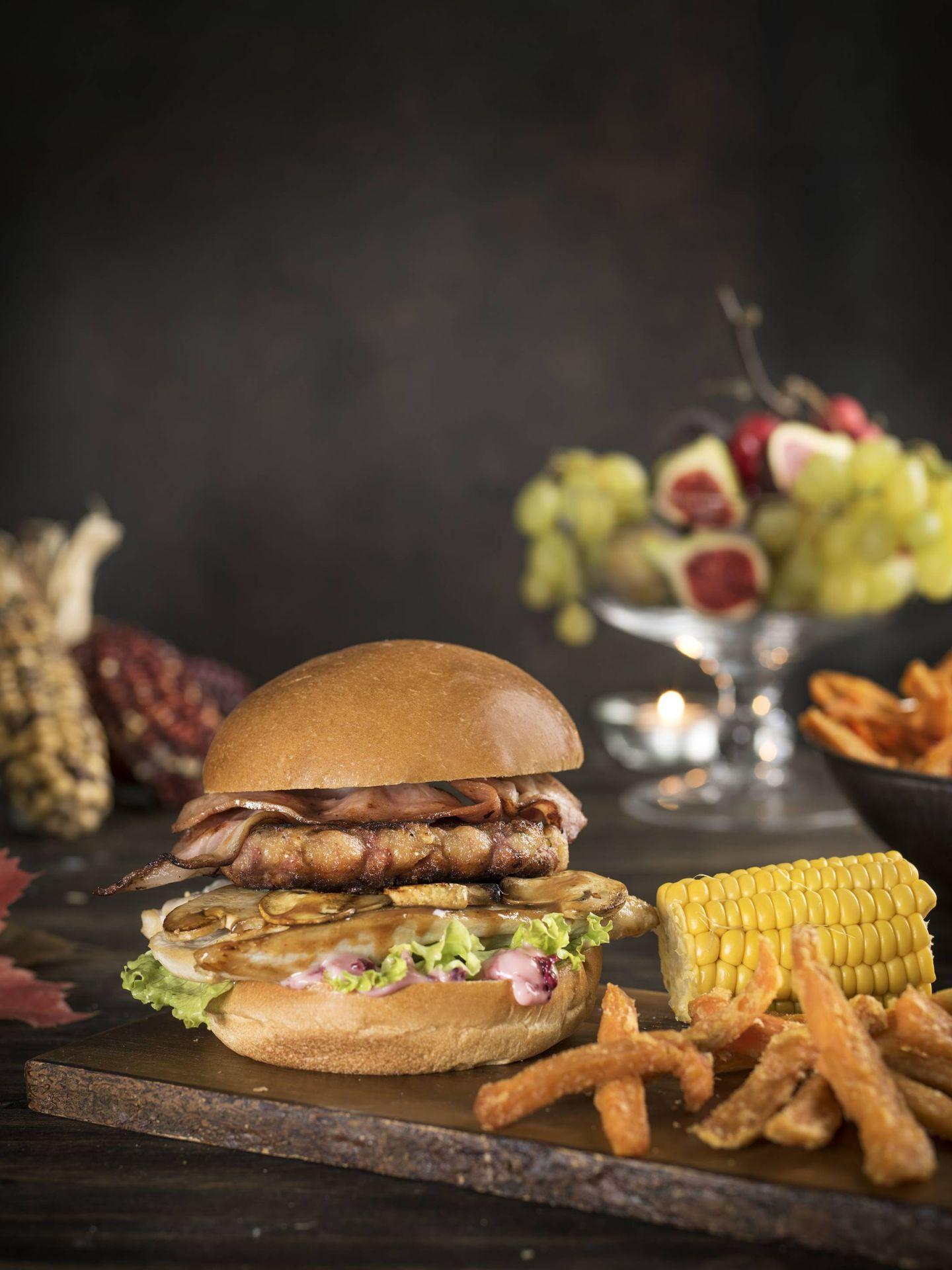 La hamburguesa de Acción de Gracias de Tommy Mel's