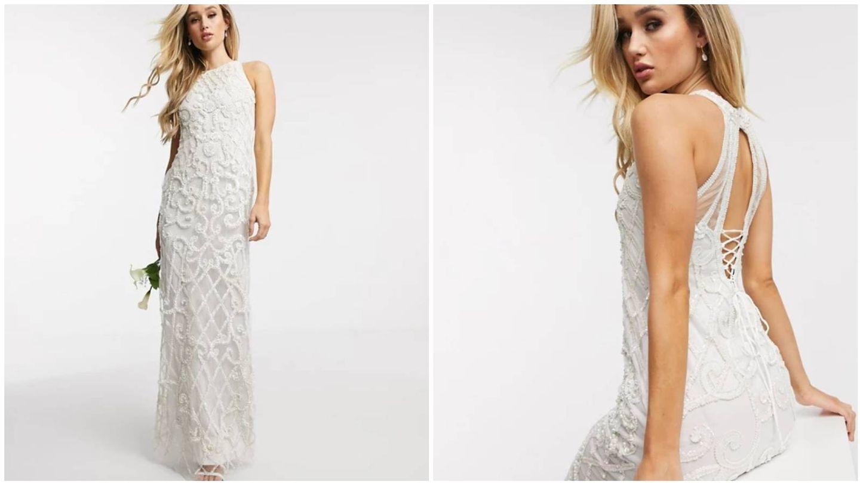 Vestido de novia de Asos. (Cortesía)