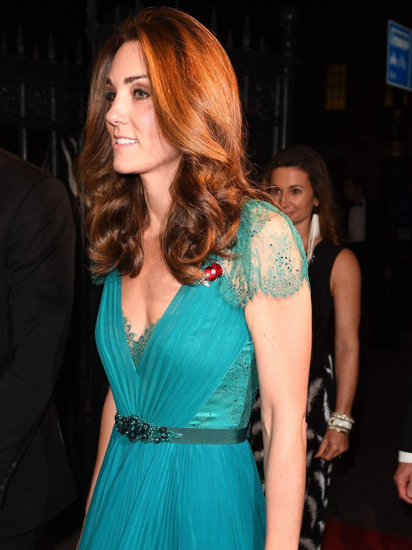 Middleton a la entrada de la gala.(CORDON)
