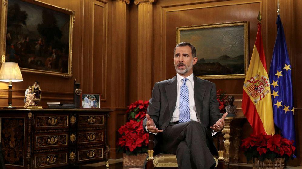 Foto: Felipe VI, durante su discurso navideño. (Reuters)