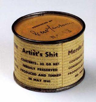 Foto: La célebre lata de conservas de Manzoni no contiene mierda de artista sino yeso