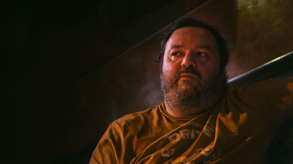 Foto: Natxo Allende, 'Torbe', durante el rodaje de 'Putero y yo'. (Foto: Pablo López Learte)
