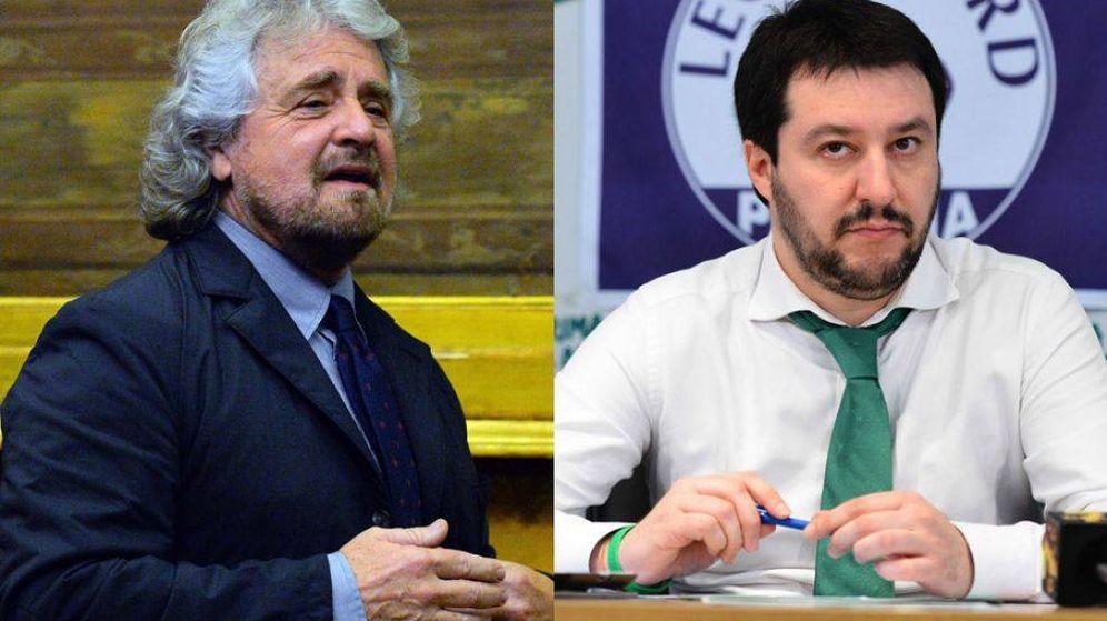 Foto: Beppe Grillo y Matteo Salvini (EFE)