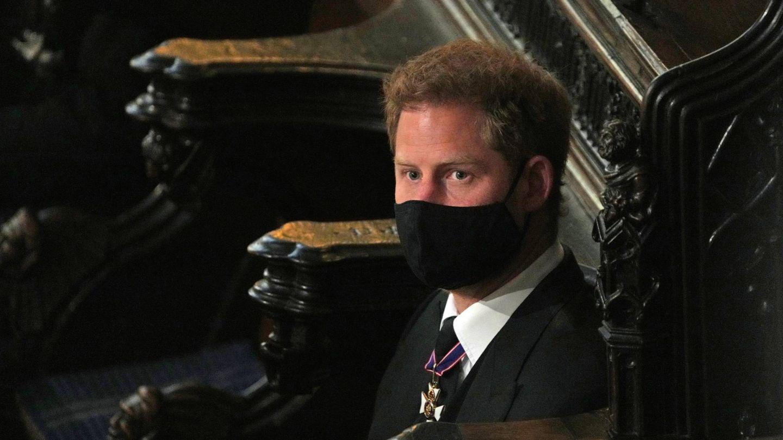 Harry, en el funeral del duque de Edimburgo. (Cordon Press)