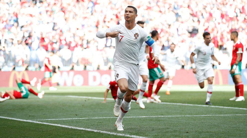 Foto: Ronaldo se reivindica, una vez más, tras marcar contra Marruecos. (Reuters)
