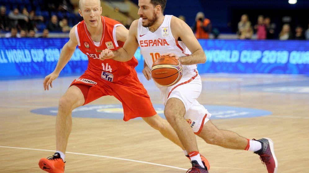 Foto: Quino Colom fue el máximo anotador de España en Bielorrusia con 17 puntos. (EFE)