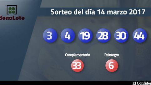 Resultados de la Bonoloto del 14 marzo 2017: números 3, 4, 19, 28, 30, 44