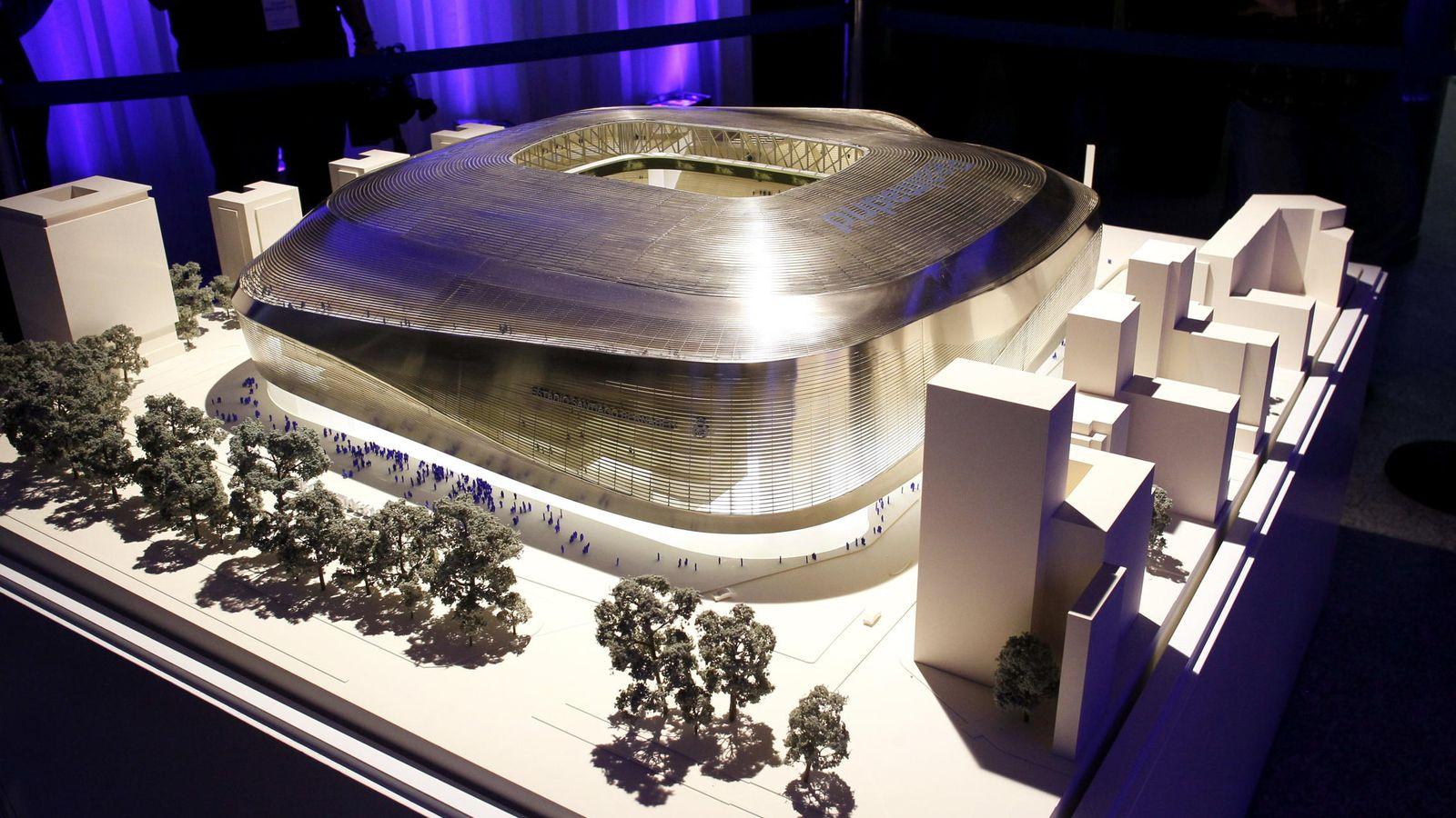 Foto: Presentación del proyecto de ampliación del Santiago Bernabéu. (Efe)
