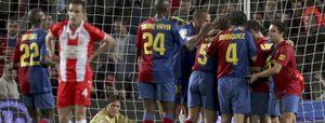 El Barça despliega su fútbol total para fulminar al Almería