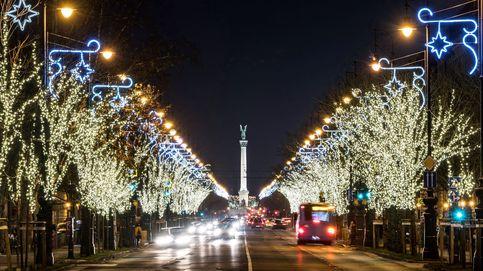 Decoraciones navideñas en Budapest