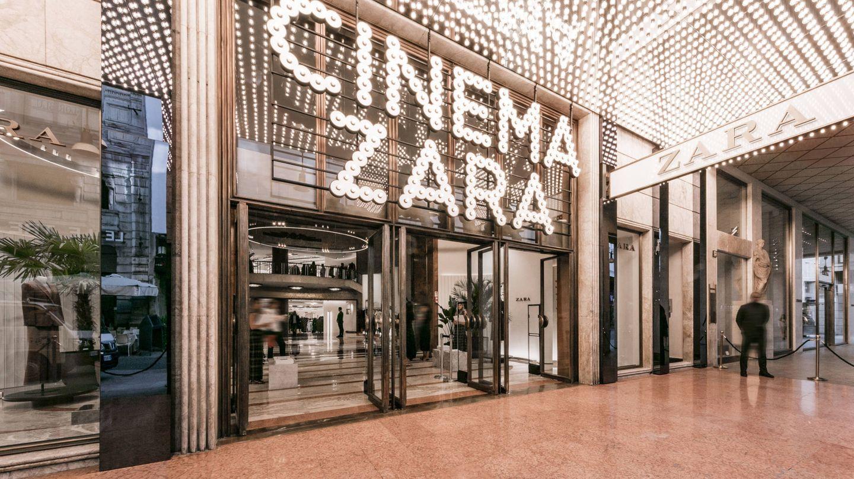 Imagen de la renovada entrada del establecimiento de Zara en Milán. (Imagen: Cortesía de la marca)