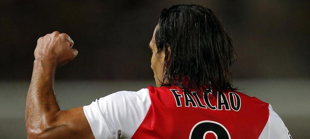 Foto: Falcao celebra un gol marcado con el Mónaco
