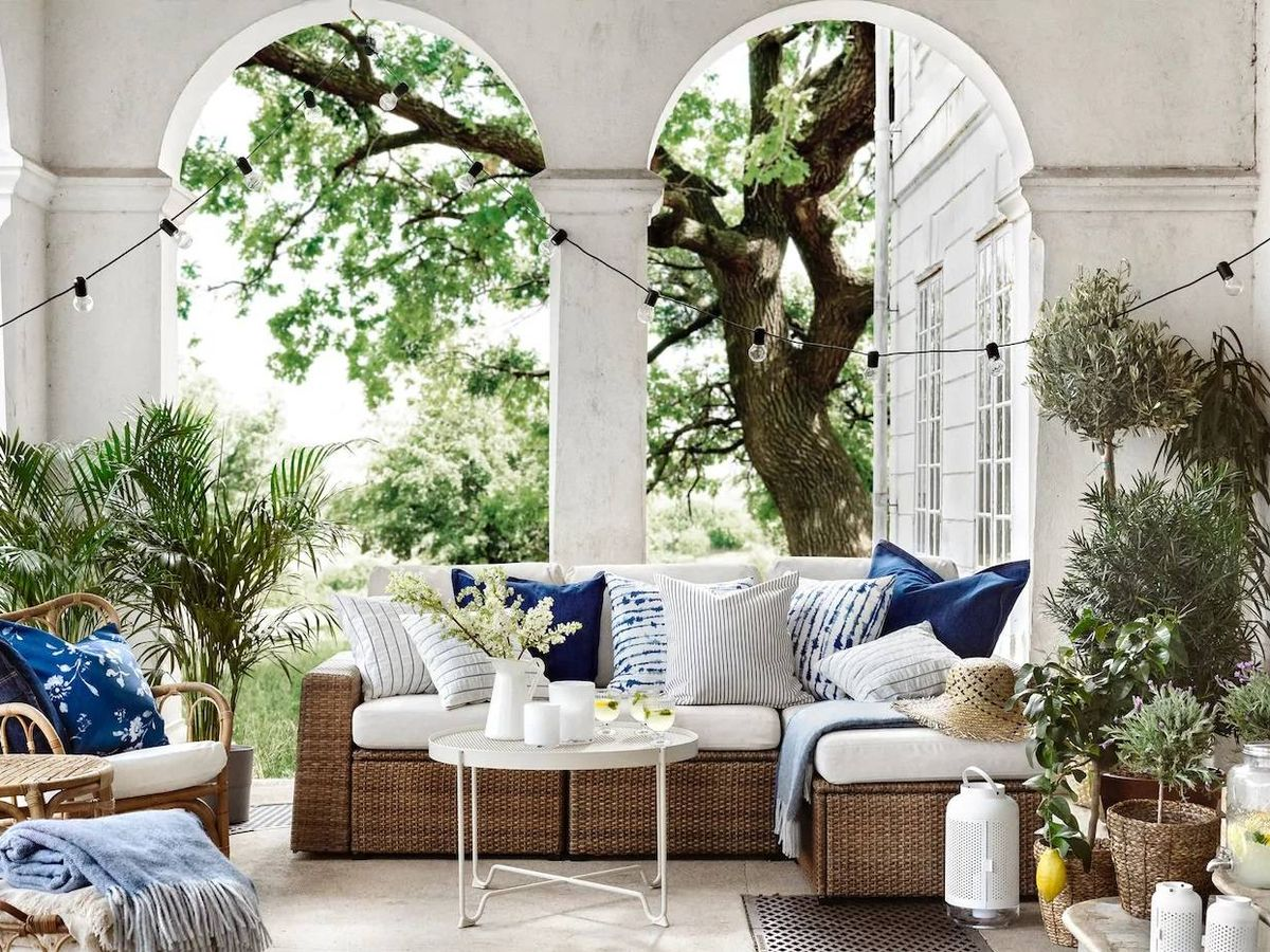 Foto: Con estos sofás de Ikea puedes disfrutar de tu terraza o jardín. (Cortesía)