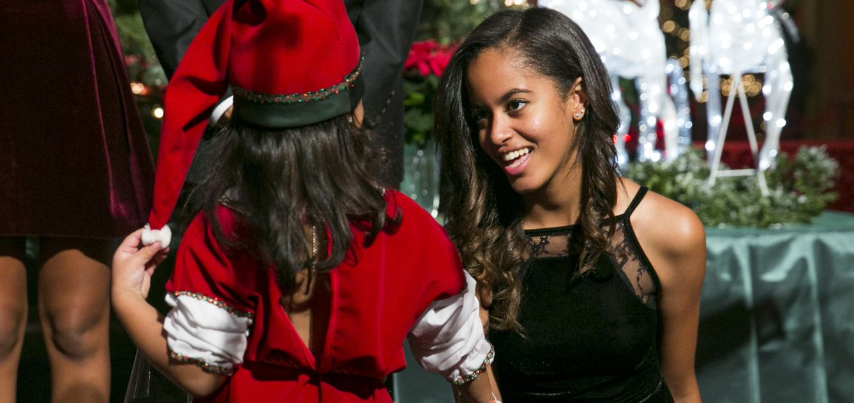 Foto: Malia Obama durante el Día Nacional de los Niños Enfermos el pasado diciembre (Gtres)