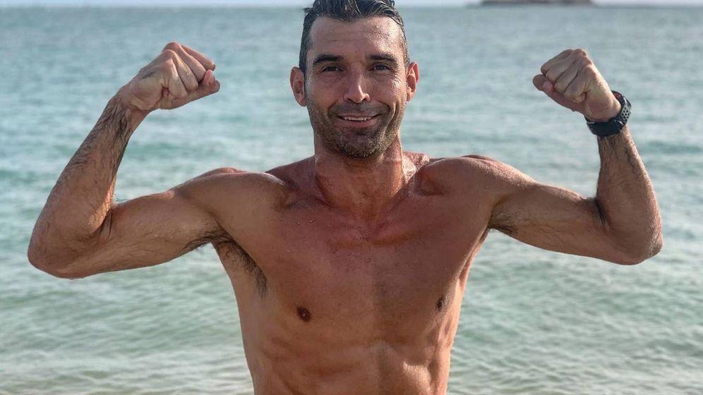 Foto: David Barral después de un entrenamiento para mantener la forma física. (@barral23)