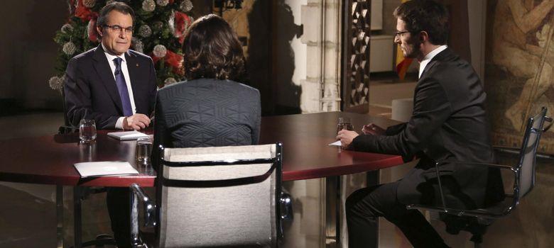 Foto: Artur Mas, durante la entrevista ofrecida a TV3 (Efe)