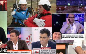 Pedro Sánchez vuelve a tirar de esposa en su tour televisivo
