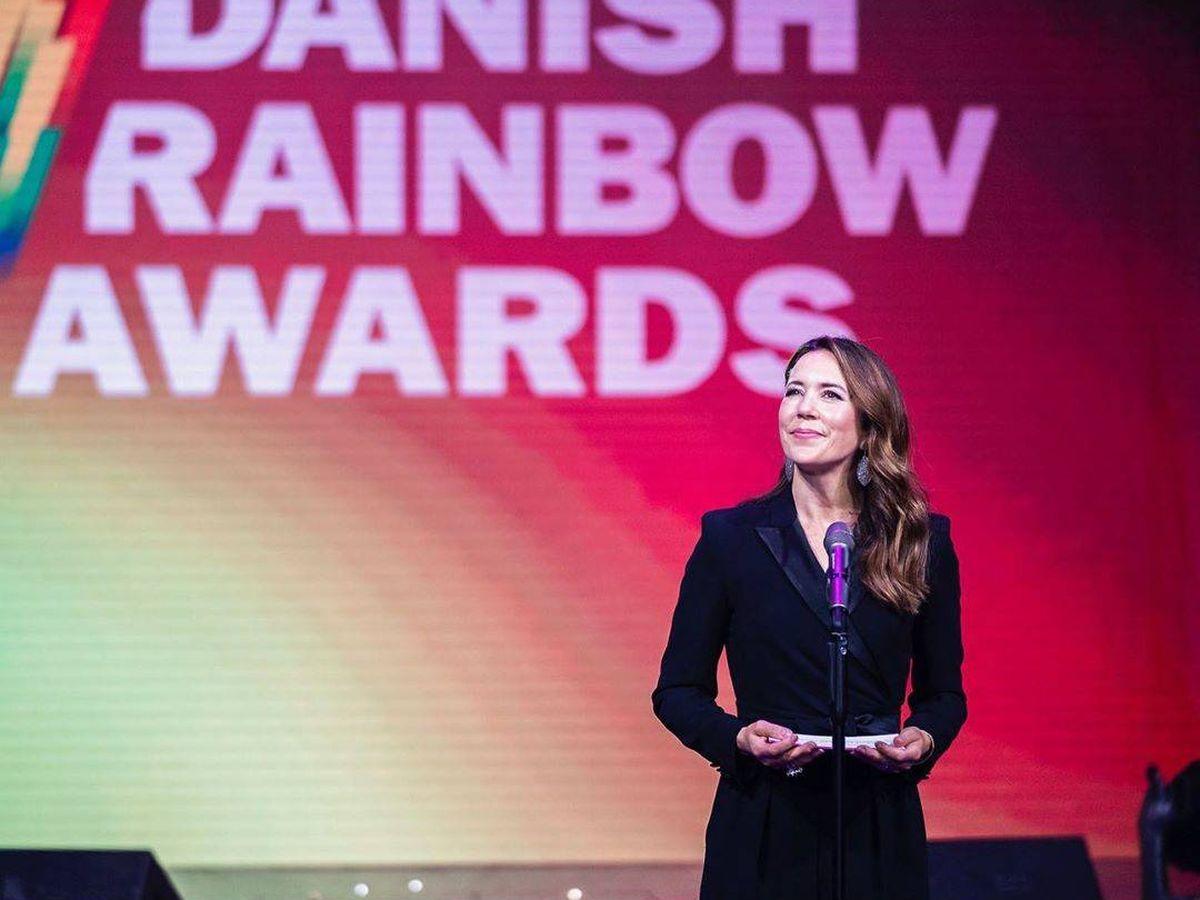 Foto: La princesa Mary, en la entrega de los Danish Rainbow Awards. (Instagram: @detdanskekongehus)