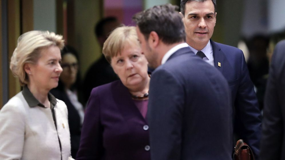 Foto: Los líderes europeos en una reunión de febrero. (Reuters)