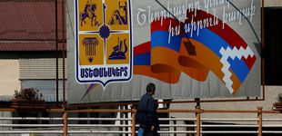 Post de Voluntarios en Nagorno-Karabaj;