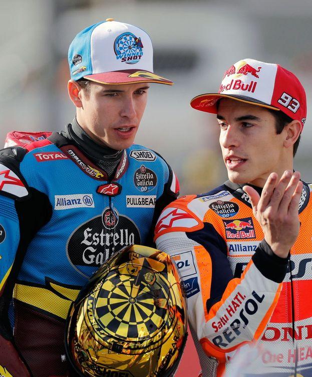 Foto: Los hermanos Márquez en el último GP de la temporada. (EFE)