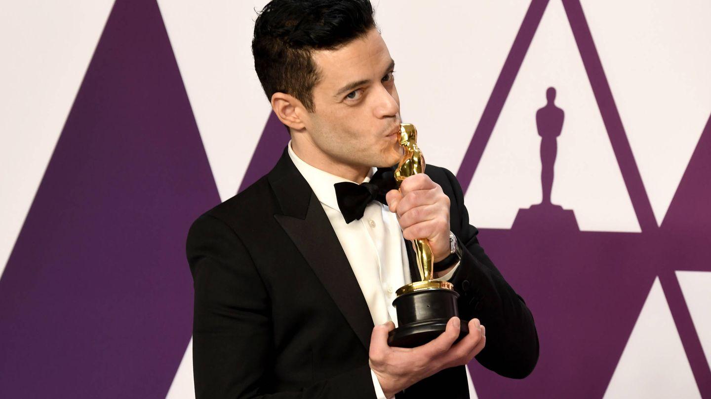 Rami Malek con su Oscar. (Getty)