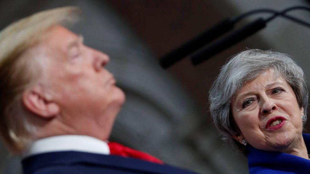 Foto: El presidente Donald Trump y la 'premier' Theresa May. (Reuters)