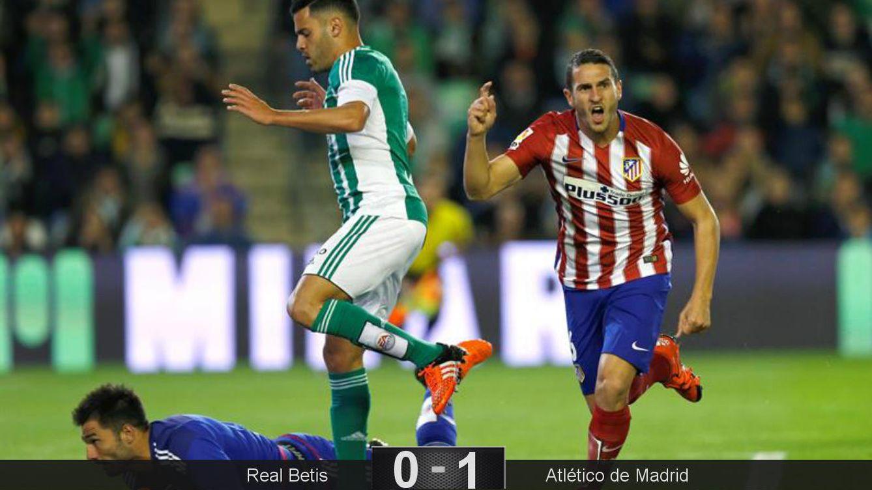 Foto: Koke marcó el único gol del partido. (EFE)