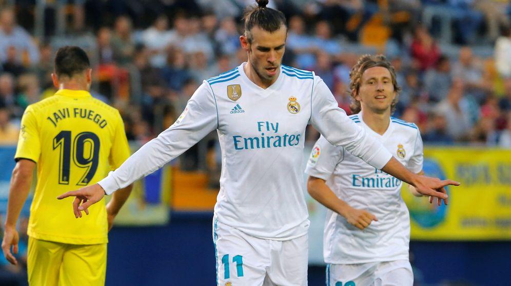 Foto: Gareth Bale celebra el primer gol del Real Madrid en el último partido de Liga contra el Villarreal. (Reuters)
