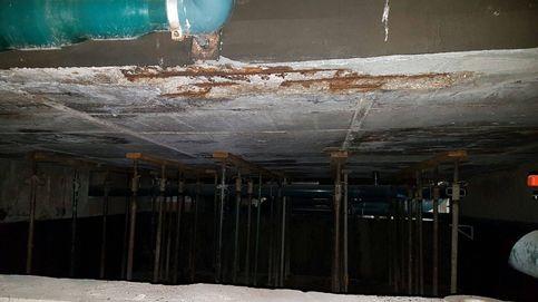 Gusanos, goteras, cables y aluminosis toman la piscina de 'élite' de Madrid