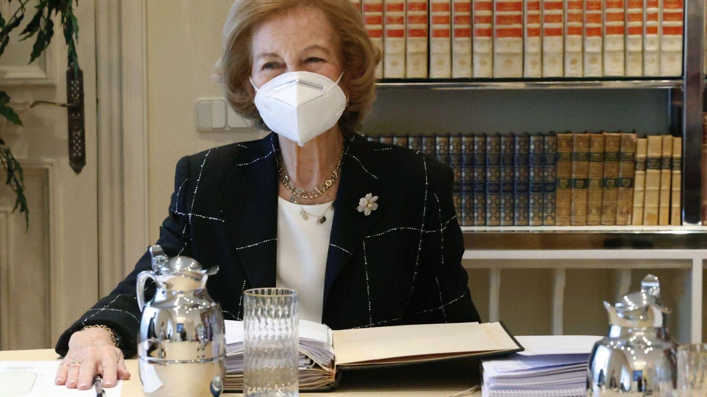 La reina Sofía, en una de sus últimas apariciones. (EFE)